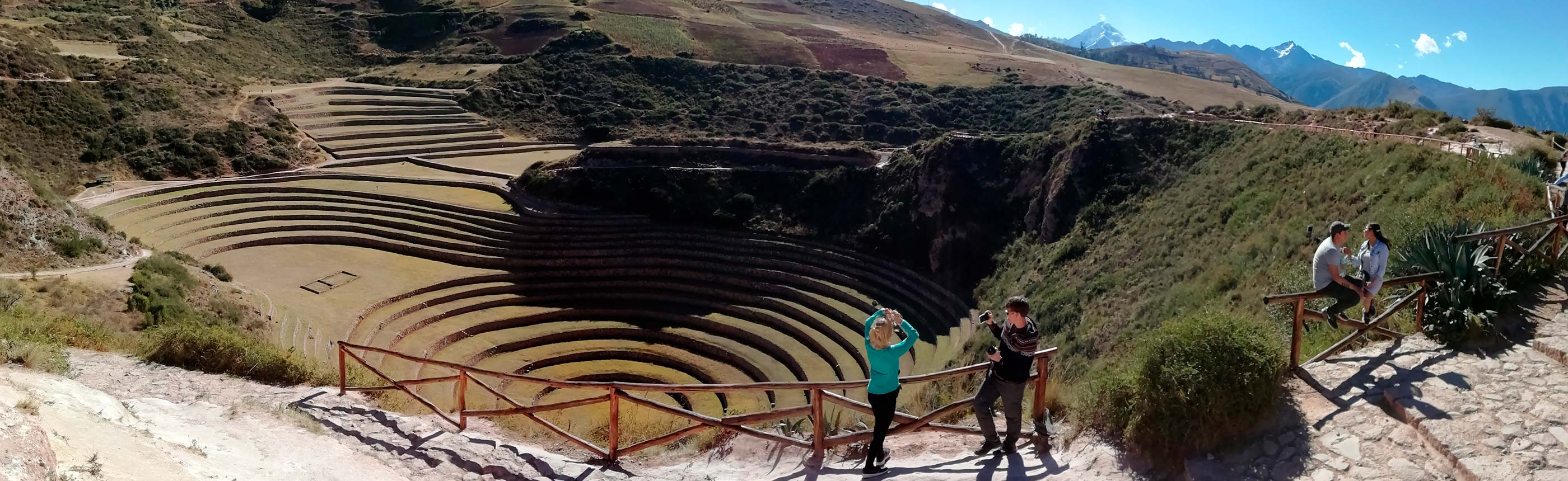 Moray (Inca ruin) — Witness the wonderful circular terraces on our Maras Moray Tour