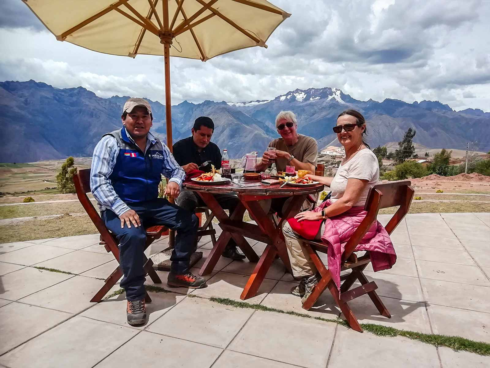 Enjoy the Lunch on The Sacred Valley