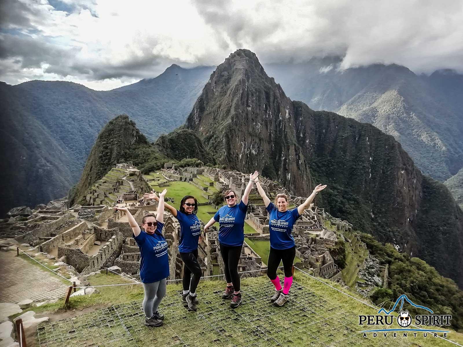 Happy People in Machu Picchu