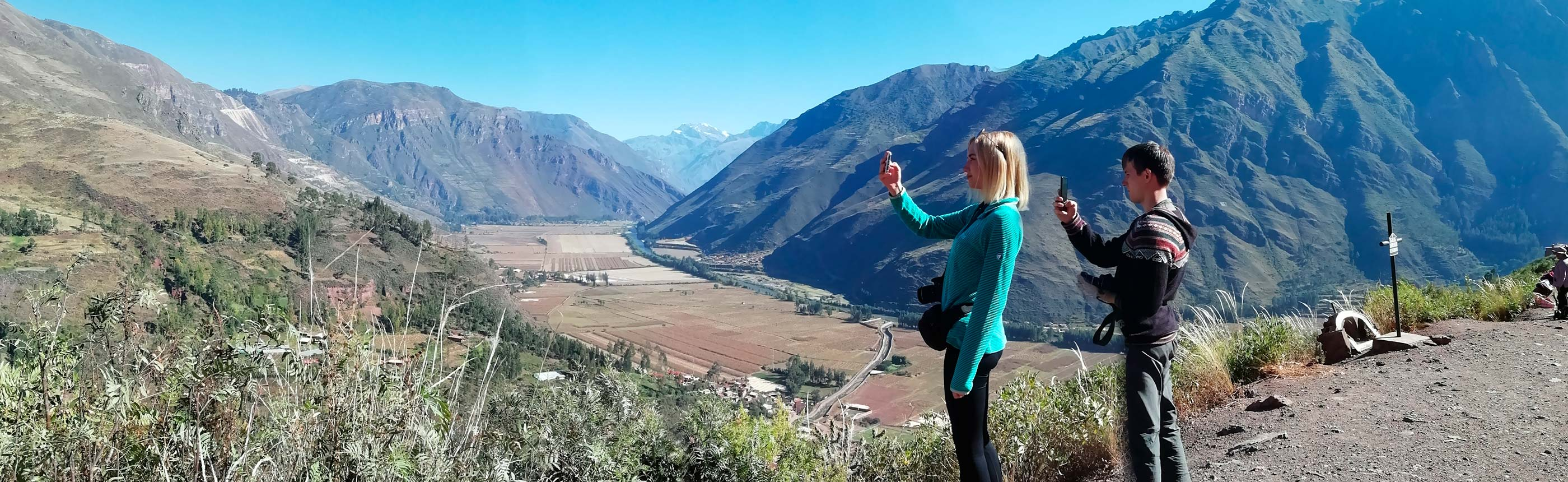 Enjoy the View of the Sacred Valley from lookout point of Taray on Classic Sacred Valley Trip