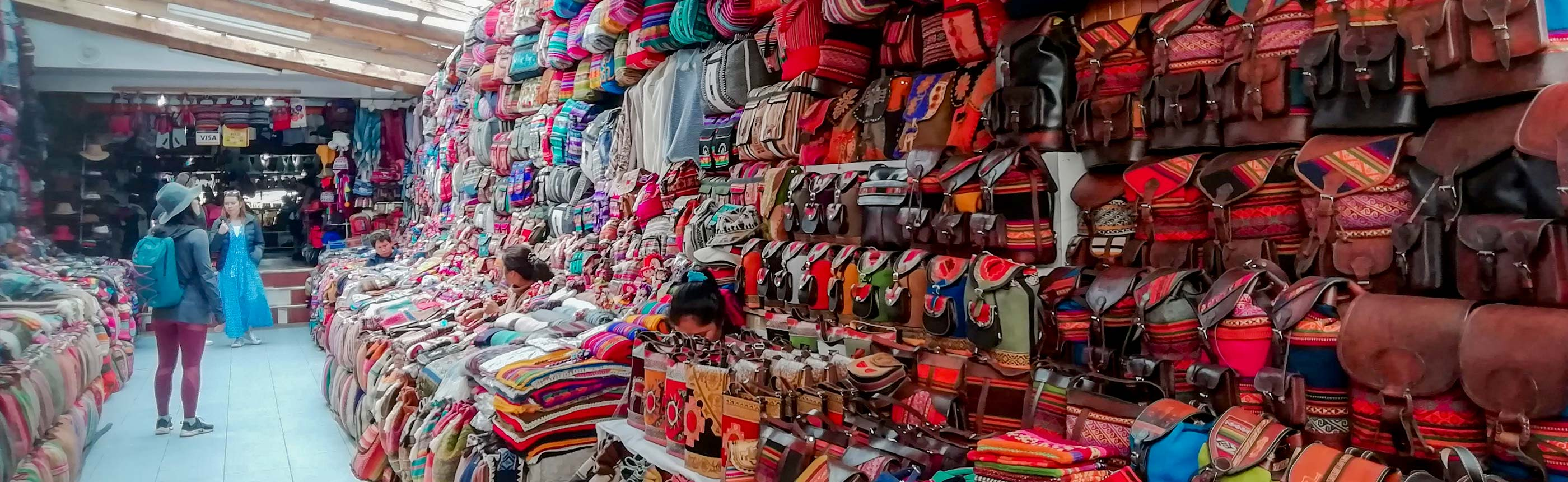 The artisan market at Pisac is now world famous and it is visited on the Sacred Valley tour