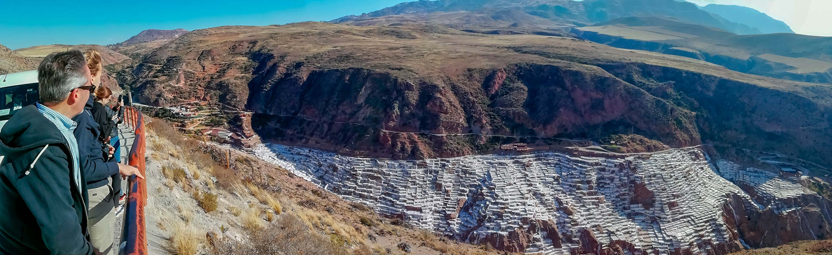Visiting the Maras Salt Mines and enjoying beautiful panoramic views of the Salt Mines in Cusco