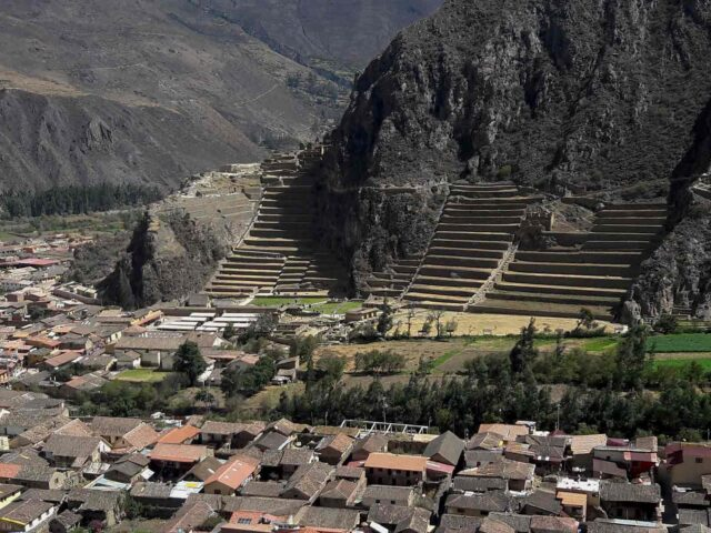 The archaeological site of Ollantaytambo