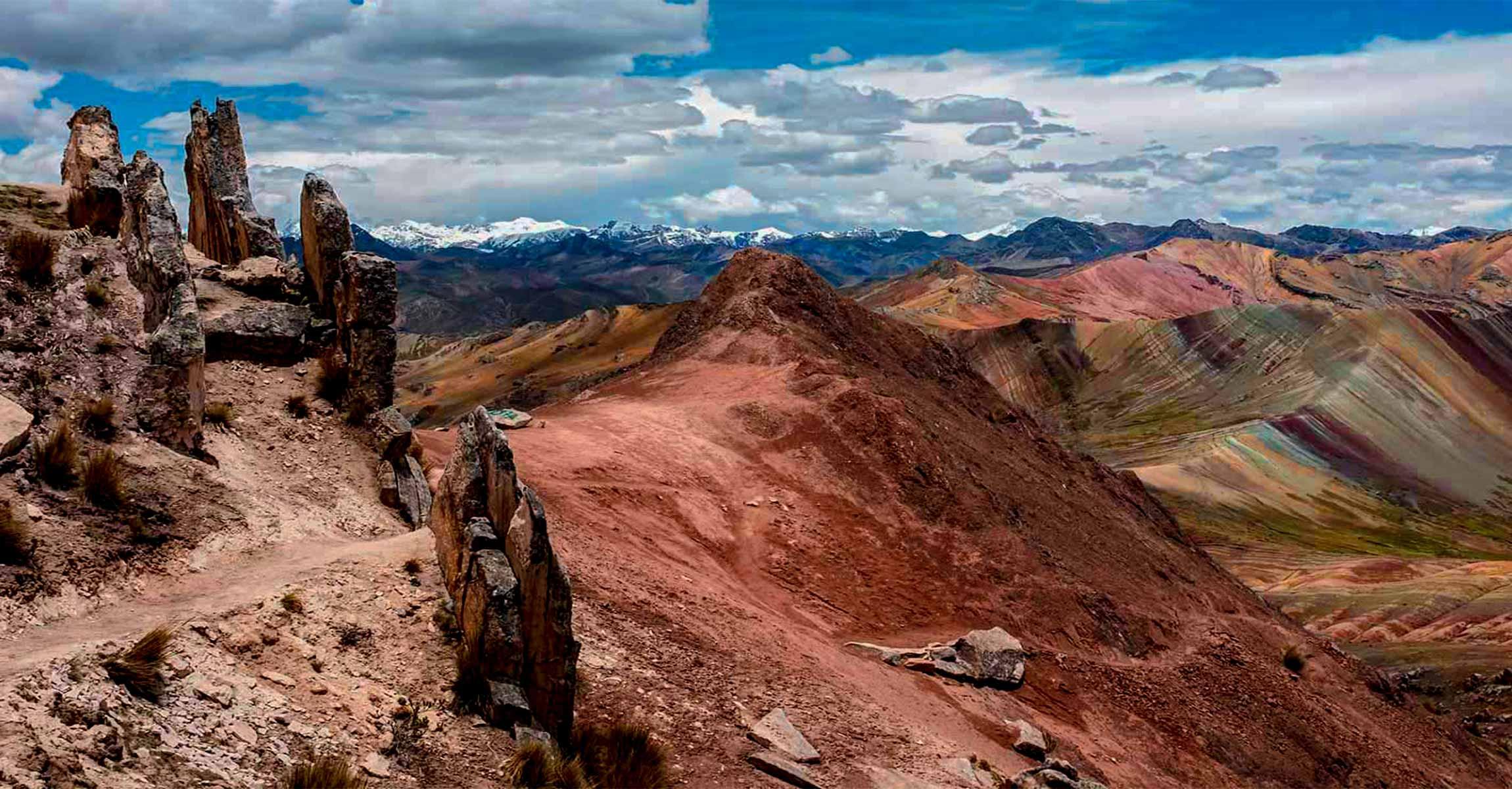 alternative tour to Palccoyo Rainbow Mountain, also known as three Rainbow Mountains Palccoyo day tour