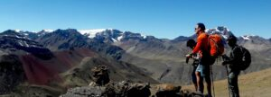The view on the way to Rainbow Mountain