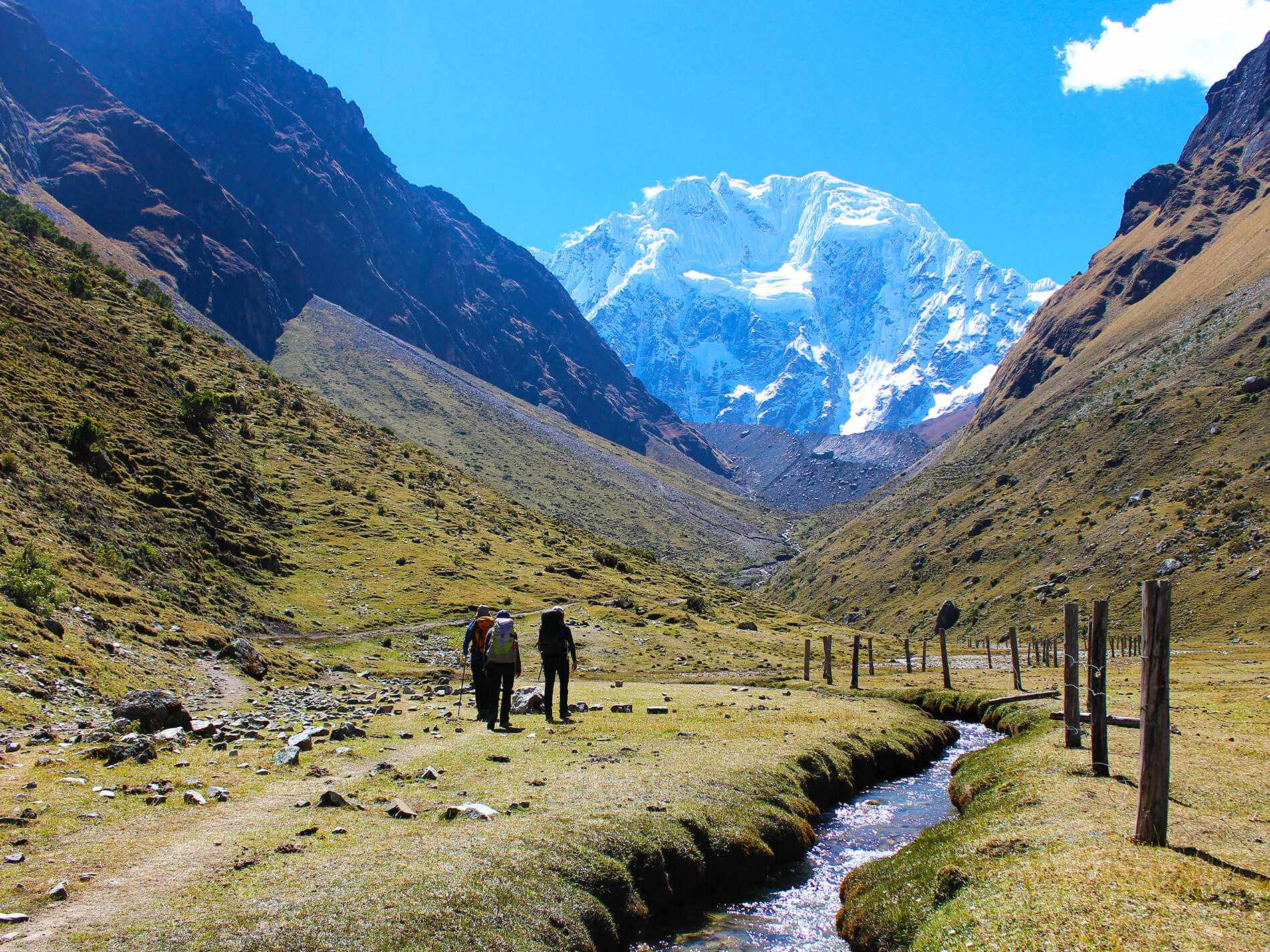 The amazing view of Mount Salkantay on salkantay trail