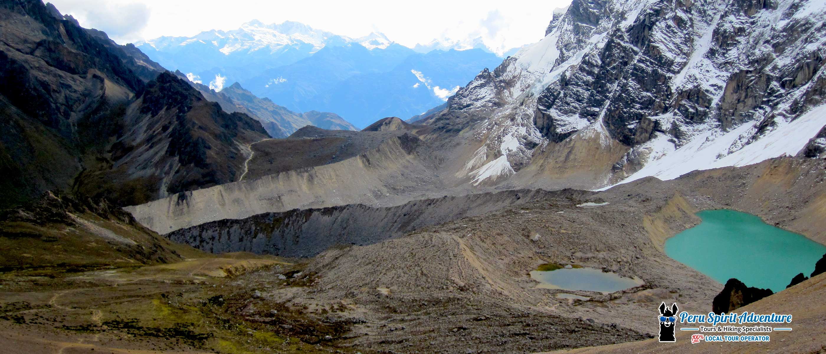 the view from the highest point of salkantay trail and inca trail